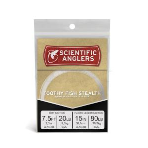 Toothy Fish Stealth 7.5ft AR Tapered Leader 80lb shock