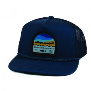 SA Hat Flat Brim Tarpon Patch Navy