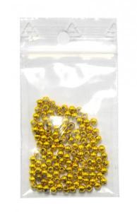 Zlaté plastové korálky 3mm