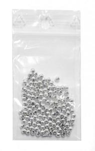 Stříbrné plastové korálky 3mm