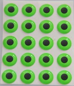 3D EPOXY EYES fluo green